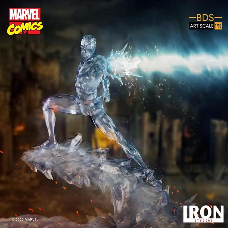 IRON STUDIOS : X-Men Battle Diorama Series Iceman Statue Iron-416