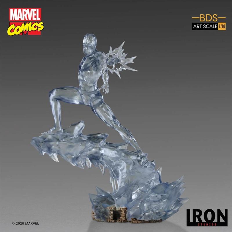 IRON STUDIOS : X-Men Battle Diorama Series Iceman Statue Iron-417