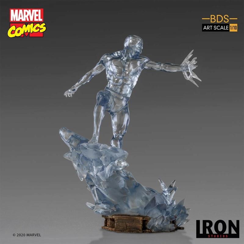 IRON STUDIOS : X-Men Battle Diorama Series Iceman Statue Iron-418