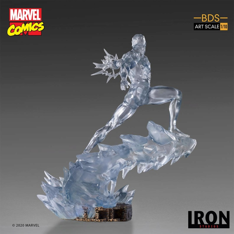 IRON STUDIOS : X-Men Battle Diorama Series Iceman Statue Iron-419