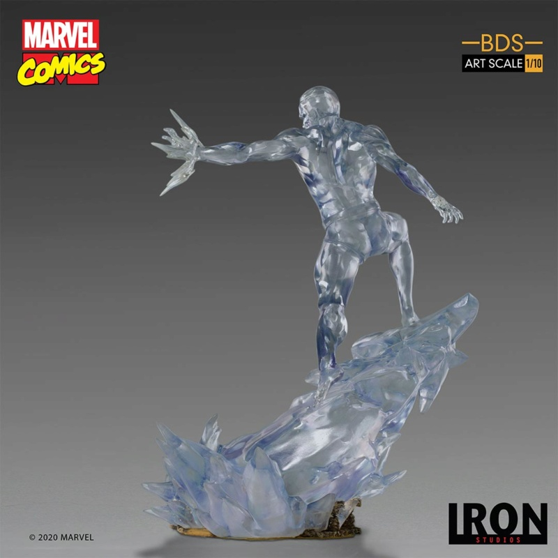 IRON STUDIOS : X-Men Battle Diorama Series Iceman Statue Iron-420