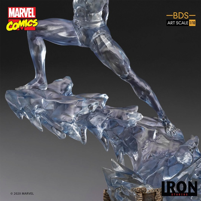 IRON STUDIOS : X-Men Battle Diorama Series Iceman Statue Iron-421