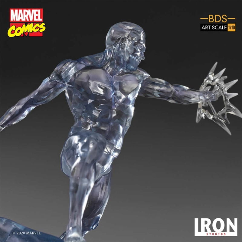 IRON STUDIOS : X-Men Battle Diorama Series Iceman Statue Iron-424