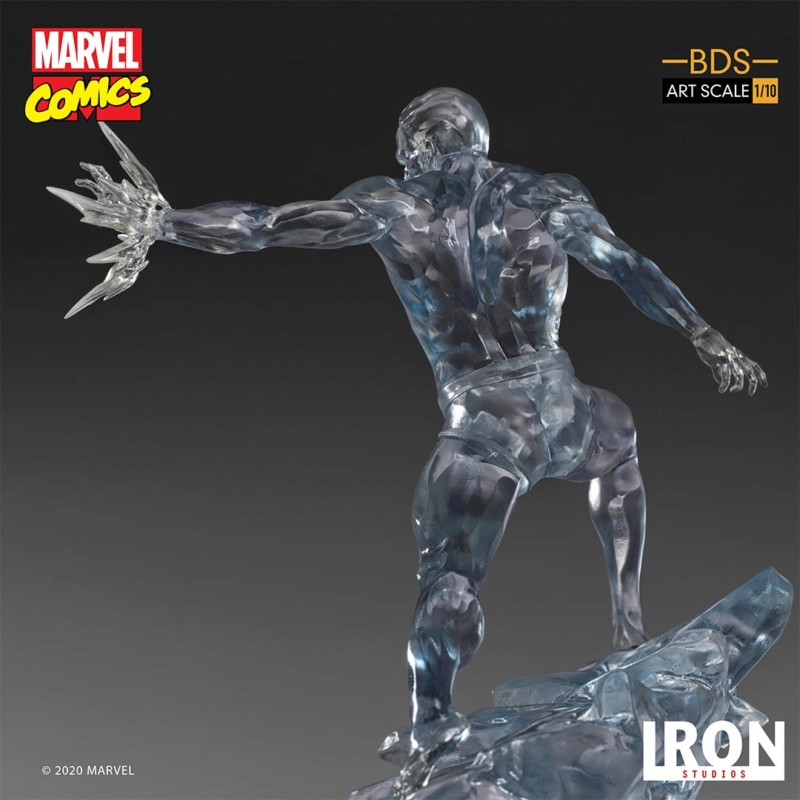 IRON STUDIOS : X-Men Battle Diorama Series Iceman Statue Iron-425