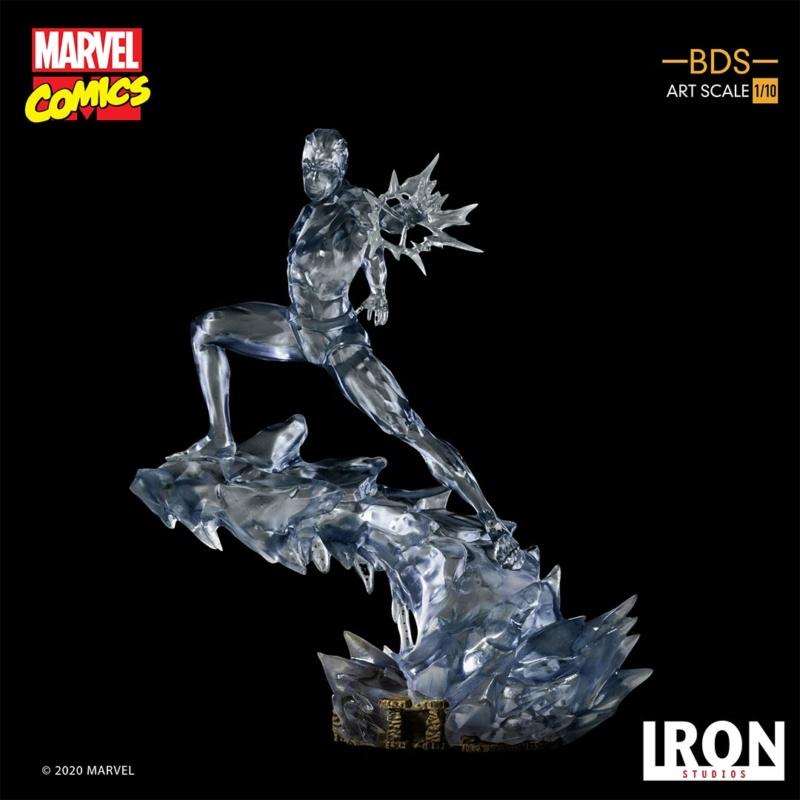 IRON STUDIOS : X-Men Battle Diorama Series Iceman Statue Iron-427