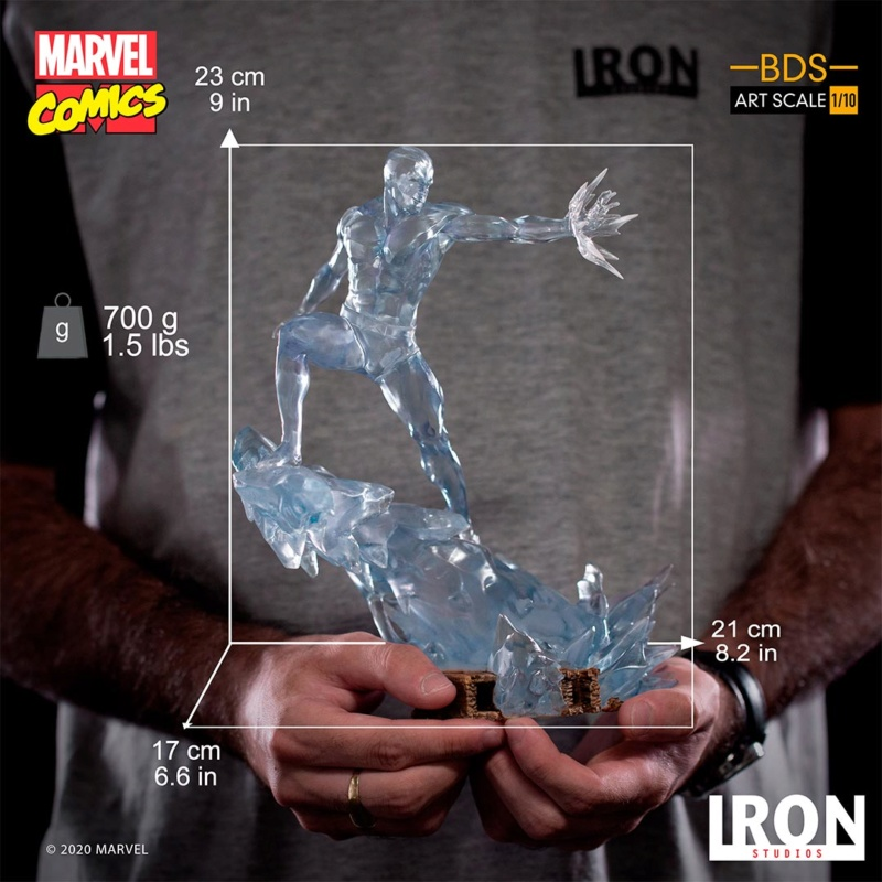 IRON STUDIOS : X-Men Battle Diorama Series Iceman Statue Iron-428