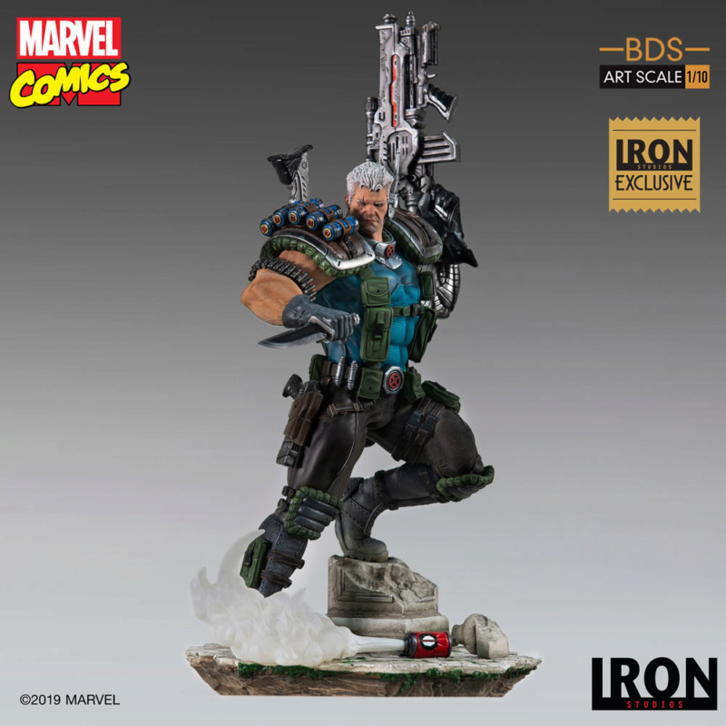 IRON STUDIOS : CABLE 1/10 Scale Statue Iron-573
