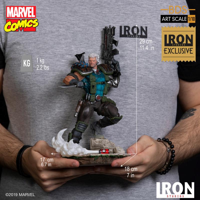 IRON STUDIOS : CABLE 1/10 Scale Statue Iron-585