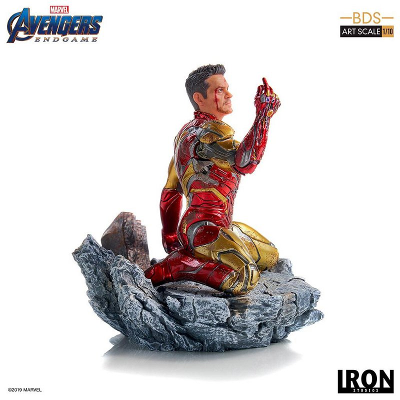 "IRON STUDIOS : Avengers: Endgame – ""I Am Iron Man"" 1/10 Scale Battle Diorama Statue Iron-s65"