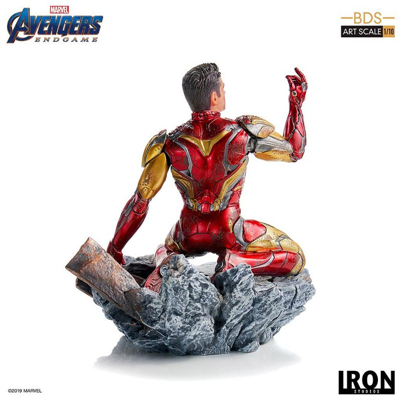 "IRON STUDIOS : Avengers: Endgame – ""I Am Iron Man"" 1/10 Scale Battle Diorama Statue Iron-s66"