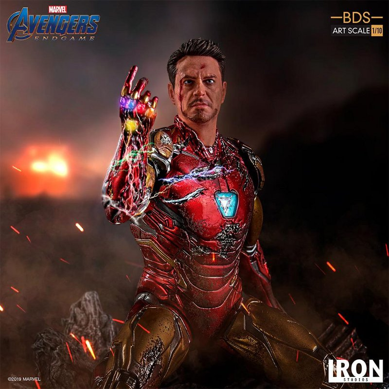 "IRON STUDIOS : Avengers: Endgame – ""I Am Iron Man"" 1/10 Scale Battle Diorama Statue Iron-s69"