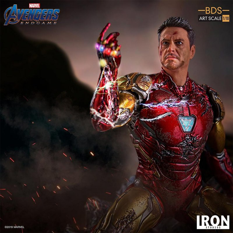 "IRON STUDIOS : Avengers: Endgame – ""I Am Iron Man"" 1/10 Scale Battle Diorama Statue Iron-s70"