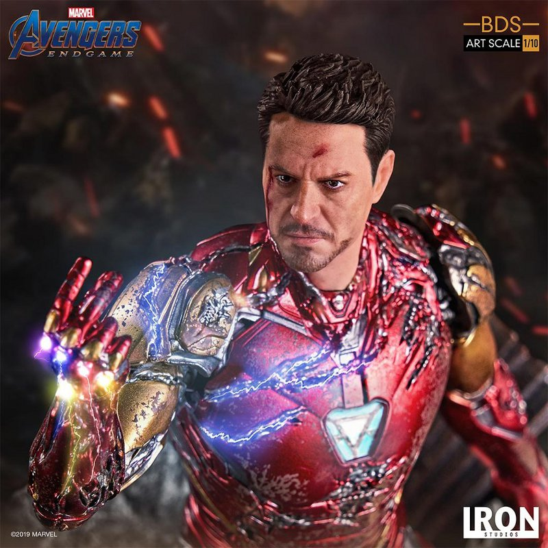"IRON STUDIOS : Avengers: Endgame – ""I Am Iron Man"" 1/10 Scale Battle Diorama Statue Iron-s71"