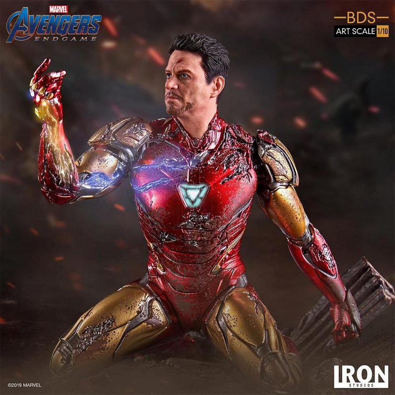 "IRON STUDIOS : Avengers: Endgame – ""I Am Iron Man"" 1/10 Scale Battle Diorama Statue Iron-s72"