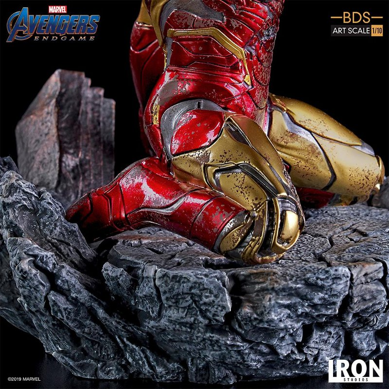 "IRON STUDIOS : Avengers: Endgame – ""I Am Iron Man"" 1/10 Scale Battle Diorama Statue Iron-s75"