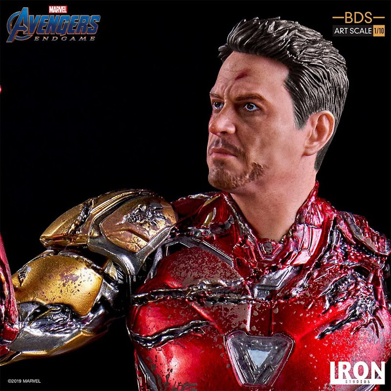 "IRON STUDIOS : Avengers: Endgame – ""I Am Iron Man"" 1/10 Scale Battle Diorama Statue Iron-s78"