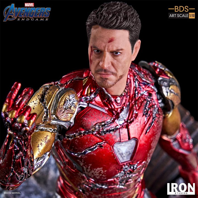 "IRON STUDIOS : Avengers: Endgame – ""I Am Iron Man"" 1/10 Scale Battle Diorama Statue Iron-s79"