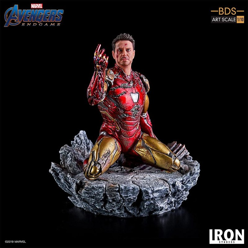 "IRON STUDIOS : Avengers: Endgame – ""I Am Iron Man"" 1/10 Scale Battle Diorama Statue Iron-s80"