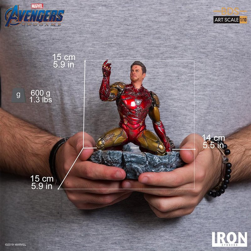 "IRON STUDIOS : Avengers: Endgame – ""I Am Iron Man"" 1/10 Scale Battle Diorama Statue Iron-s81"