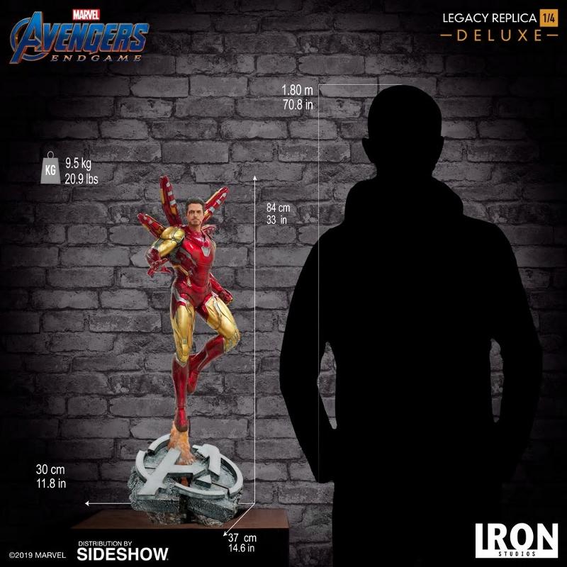 IRON STUDIOS : Avengers Endgame - Iron Man Mark LXXXV (Deluxe) 1/4 statue Ironma29