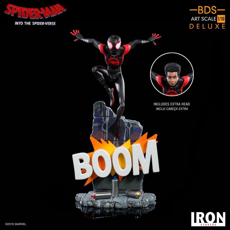 IRON STUDIOS : Spider-Man: Into The Spider-Verse – Miles Morales Spider-Man Statue Miles_10