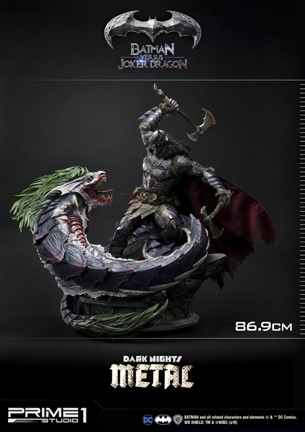 Batman Vs Joker Dragon Dark Knights Metal 1/3 Statue Prime-72