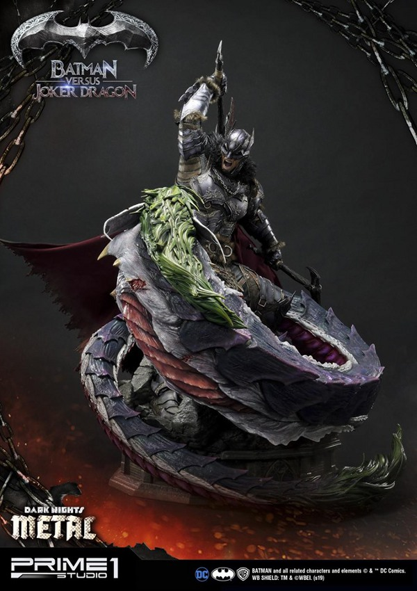 Batman Vs Joker Dragon Dark Knights Metal 1/3 Statue Prime-73