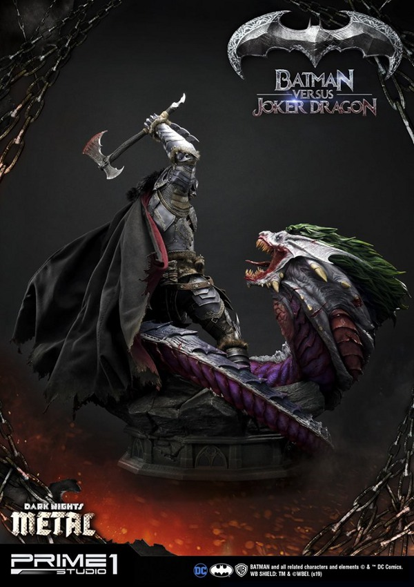 Batman Vs Joker Dragon Dark Knights Metal 1/3 Statue Prime-74