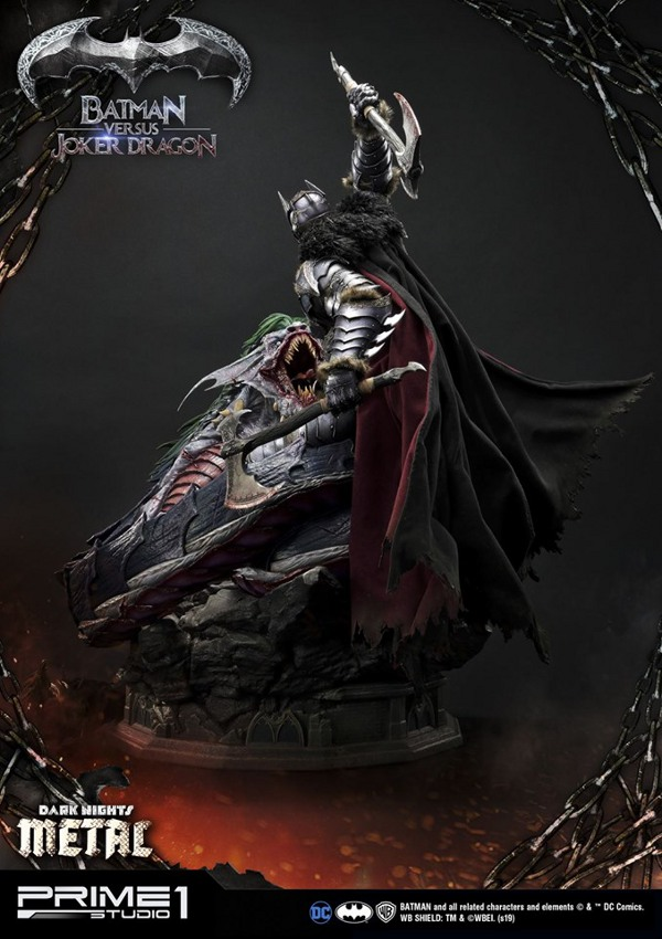 Batman Vs Joker Dragon Dark Knights Metal 1/3 Statue Prime-75