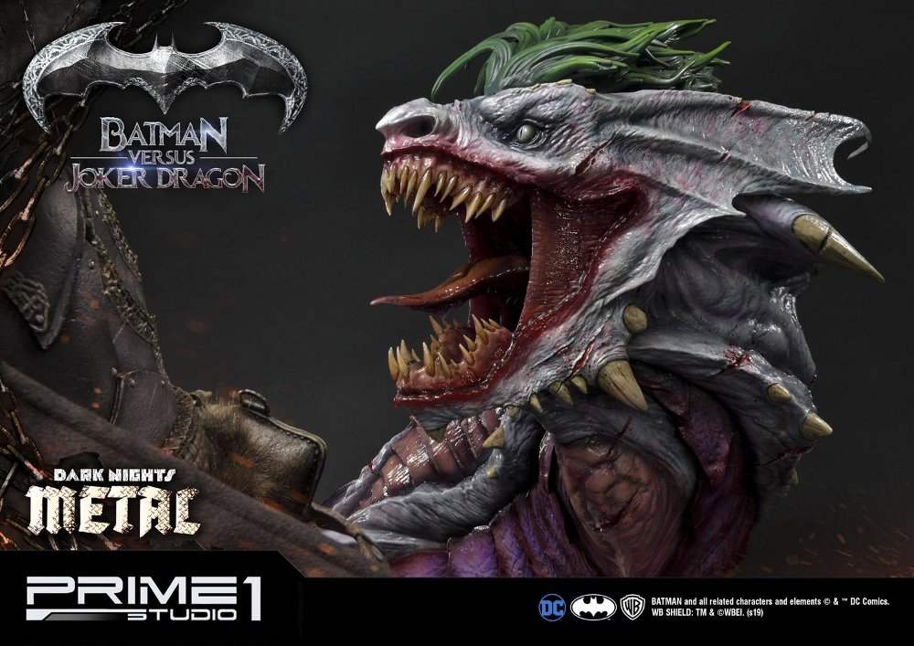 Batman Vs Joker Dragon Dark Knights Metal 1/3 Statue Prime-78