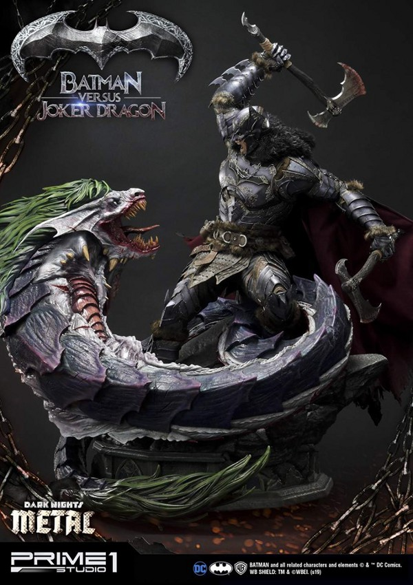 Batman Vs Joker Dragon Dark Knights Metal 1/3 Statue Prime-79
