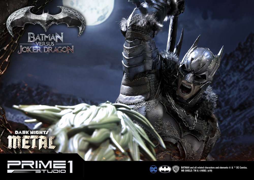 Batman Vs Joker Dragon Dark Knights Metal 1/3 Statue Prime-80