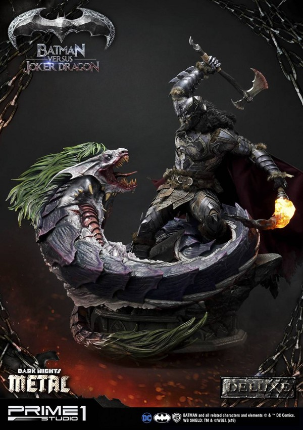 Batman Vs Joker Dragon Dark Knights Metal 1/3 Statue Prime-87
