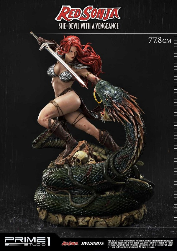 RED SONJA - She-Devil with a Vengeance 1/3 scale deluxe statue Red_so10