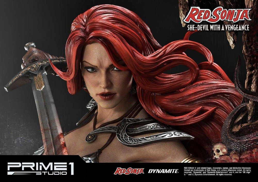 RED SONJA - She-Devil with a Vengeance 1/3 scale deluxe statue Red_so17