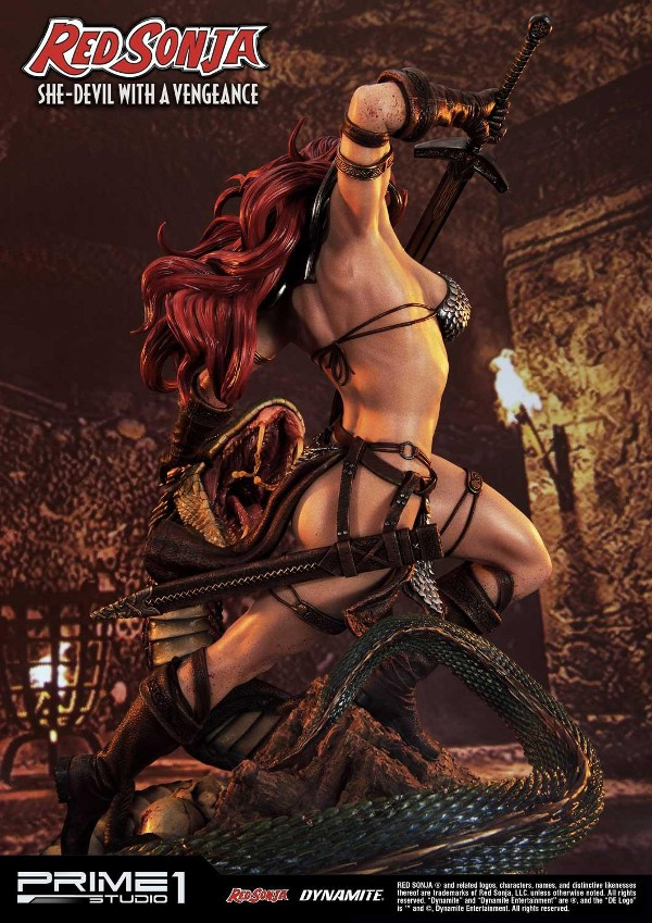 RED SONJA - She-Devil with a Vengeance 1/3 scale deluxe statue Red_so18