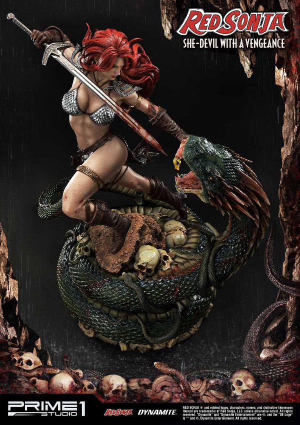 RED SONJA - She-Devil with a Vengeance 1/3 scale deluxe statue Red_so19