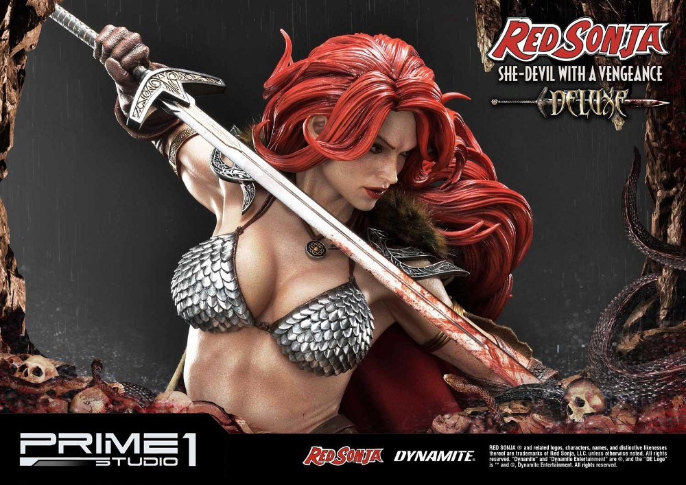RED SONJA - She-Devil with a Vengeance 1/3 scale deluxe statue Red_so20