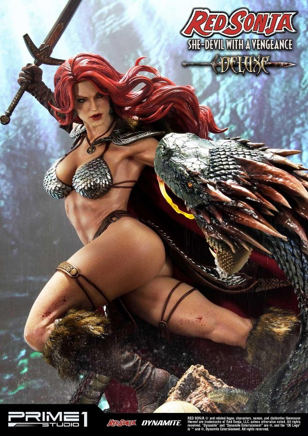 RED SONJA - She-Devil with a Vengeance 1/3 scale deluxe statue Red_so21