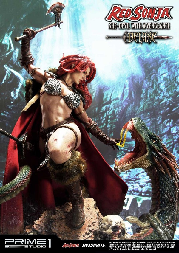 RED SONJA - She-Devil with a Vengeance 1/3 scale deluxe statue Red_so25