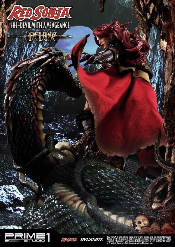 RED SONJA - She-Devil with a Vengeance 1/3 scale deluxe statue Red_so27