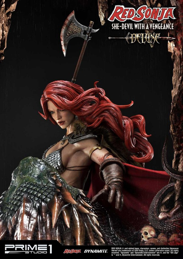 RED SONJA - She-Devil with a Vengeance 1/3 scale deluxe statue Red_so29