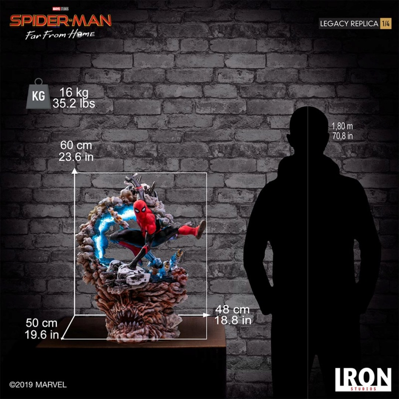 IRON STUDIOS : Spider-Man: Far From Home – 1/4 Scale Spider-Man Legacy Replica Statue Spider71