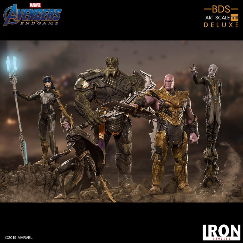 IRON STUDIOS : Avengers: Endgame  - Thanos Black Order Deluxe BDS Art Scale 1/10   Thano117