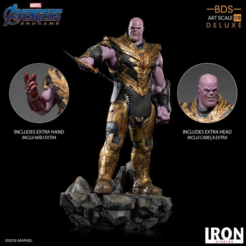 IRON STUDIOS : Avengers: Endgame  - Thanos Black Order Deluxe BDS Art Scale 1/10   Thano120