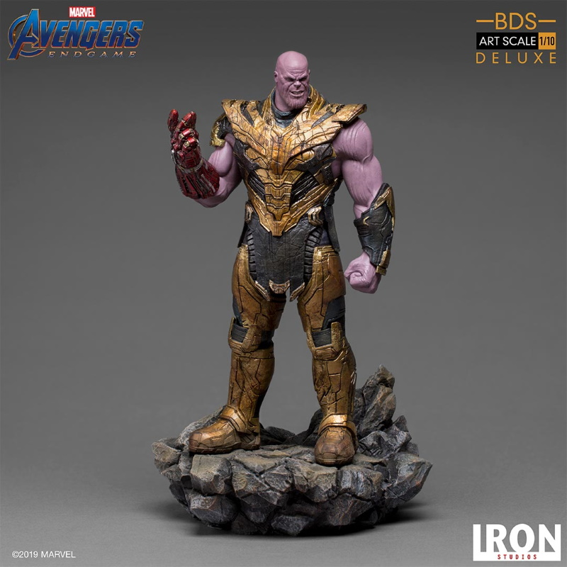 IRON STUDIOS : Avengers: Endgame  - Thanos Black Order Deluxe BDS Art Scale 1/10   Thano121