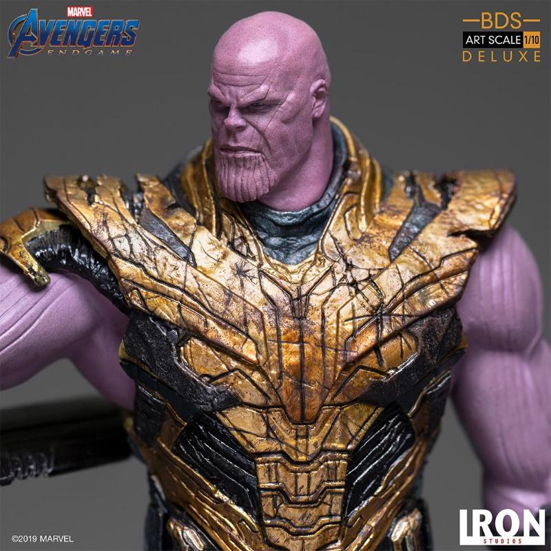 IRON STUDIOS : Avengers: Endgame  - Thanos Black Order Deluxe BDS Art Scale 1/10   Thano130