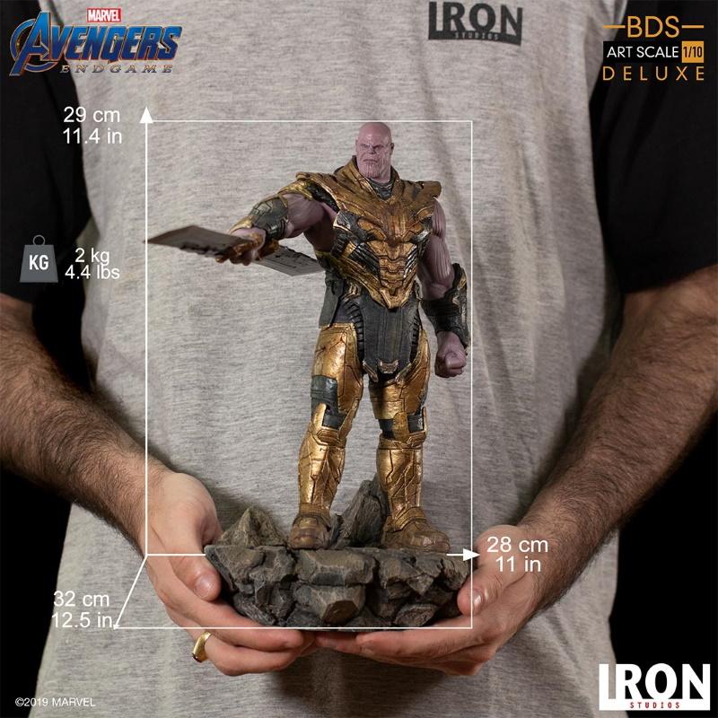 IRON STUDIOS : Avengers: Endgame  - Thanos Black Order Deluxe BDS Art Scale 1/10   Thano136