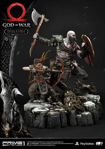 God Of War Kratos Atreus 1 4 Scale Statue