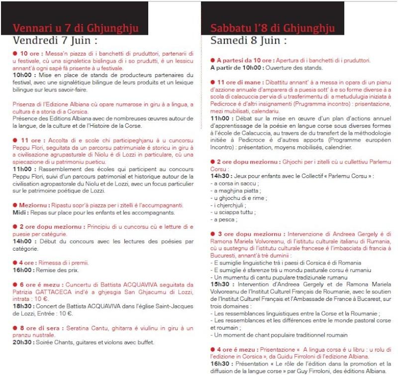 Sicondu Festivale internaziunale di a puesia. U  prugramma. Captur12